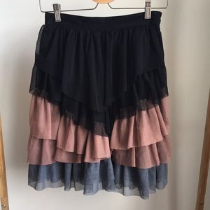 Tule layered mini skirt